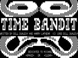 Time Bandit TRS-80 Title screen with voice
