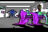Manhunter: New York Apple II In the hospital with the robot guard