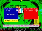 BMX Simulator ZX Spectrum First course finished