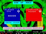 BMX Simulator ZX Spectrum Disqualified - game over