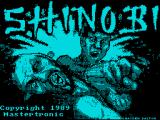 Shinobi ZX Spectrum Loading Screen