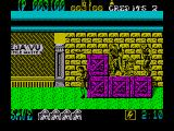 Shinobi ZX Spectrum You have to time your attack carefully as the boomerang flies back to the enemy