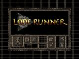 Lode Runner Windows 3.x The title screen and main menu.