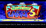 Leisure Suit Larry 5: Passionate Patti Does a Little Undercover Work DOS Title screen (EGA/Tandy)