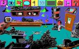 Leisure Suit Larry 5: Passionate Patti Does a Little Undercover Work DOS The icons at the top of the screen for performing actions (EGA/Tandy)
