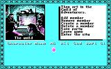 Tales of the Unknown: Volume I - The Bard's Tale DOS Game options in the Adventurer's Guild (CGA w/RGB Monitor)