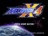 Mega Man X4 SEGA Saturn Title screen.
