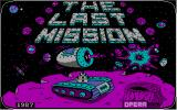 The Last Mission PC Booter The title screen