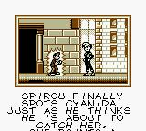 Spirou Game Boy Spirou finally spots Cyanida.