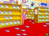 The Lie Macintosh At the video store. Susie's little Lie has knocked over the videotapes from their shelves, and the player has to pick them up, but matching each colour and genre.