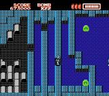 RoboWarrior NES This level features watery canals and items hidden inside of them