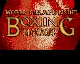 World Championship Boxing Manager Acorn 32-bit Title screen