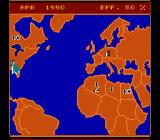 Rocket Ranger NES The world's situation map. Spies are noted in specific countries