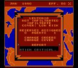 Rocket Ranger NES Spies report on the situation within each country