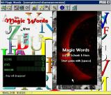 Magic Words Windows 3.x The title screen is displayed after the shareware reminder