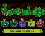 Lemmings Acorn 32-bit Title screen