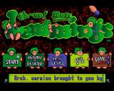 Oh No! More Lemmings Acorn 32-bit Title screen