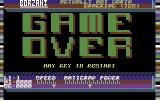 Borzak Commodore 64 Game over