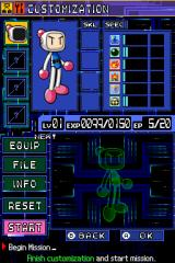 Bomberman 2 Nintendo DS Customization.