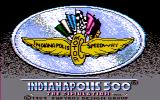Indianapolis 500: The Simulation DOS Title screen (CGA w/Composite Monitor)