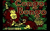 Congo Bongo PC Booter Title screen (PCjr)