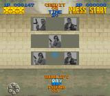 Lethal Enforcers SNES A third round of cardboard bad shooters occurs.