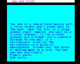 The Fellowship of the Ring BBC Micro Game start