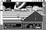 Super Hang-On Macintosh Future city background - 1bit mode