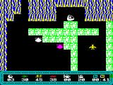 Planet of Shades ZX Spectrum A game in progress