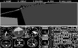 Microsoft Flight Simulator (v3.0) DOS The Golden Gate Bridge (CGA Monochrome mode)