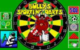 Bully's Sporting Darts Amiga Title screen