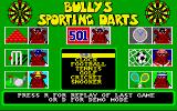 Bully's Sporting Darts Amiga Main menu