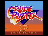 Two Crude Dudes Genesis Title Screen (Japan Version)