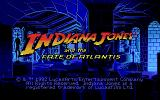 Indiana Jones and the Fate of Atlantis DOS Title screen (EGA)