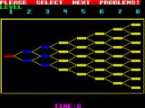 Puzznic ZX Spectrum Stage select screen