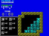 Puzznic ZX Spectrum Gameplay on the first level