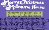 Merry Christmas from Melbourne House Commodore 64 Loading screen