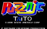 Puzznic Amiga Title screen