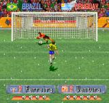 International Superstar Soccer Deluxe PlayStation PK mode.