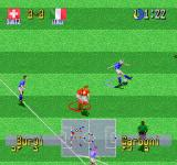 International Superstar Soccer Deluxe PlayStation Carboni's (Fabrizio Ravanelli) backheel pass.
