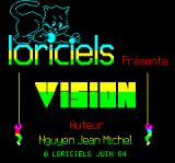 Vision Oric Title Screen (in French)