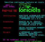 Vision Oric Advertisement represents a Loriciels catalogue for Oric / Atmos platform (in French)