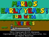 Mario's Early Years: Fun With Letters DOS Title screen
