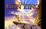 The Lion King DOS Main Menu