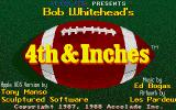 4th & Inches Apple IIgs Title screen with credits