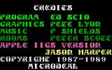 Airball Apple IIgs Credits