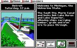 Where in the U.S.A. Is Carmen Sandiego? (Enhanced) DOS Starting a case in Detroit. (EGA/TANDY)