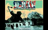 D-Day: The Beginning of the End Amiga Title.