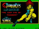 Thundercats ZX Spectrum Loading Screen