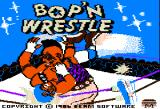 Bop'N Wrestle Apple II Title screen